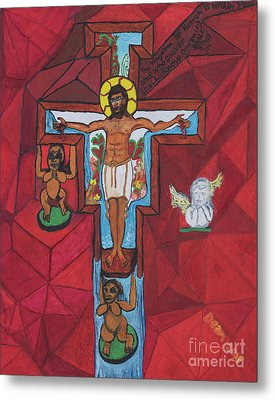 Living Christ Ascending Metal Print