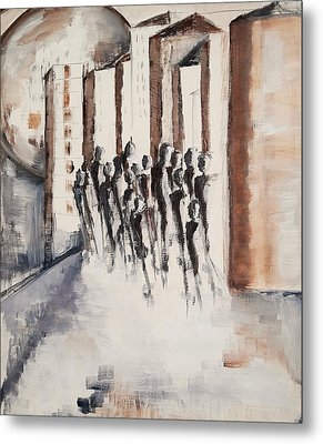 Living For The City Metal Print by Christel Roelandt