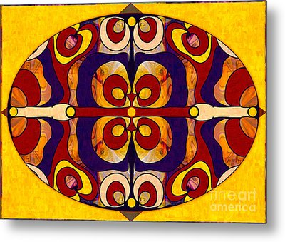 Living In A Mandala Abstract Bliss Art By Omashte Metal Print