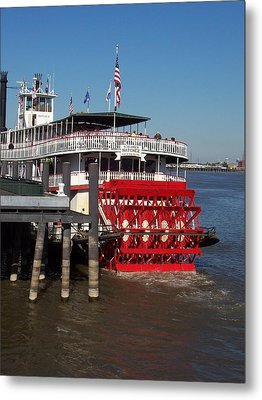 Living On The Mississippi Metal Print by William Albanese Sr