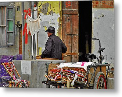 Living The Old Shanghai Life Metal Print by Christine Till