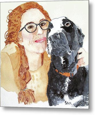 Livvy And Amos Metal Print