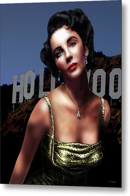 Liz Taylor Metal Print by Virginia Palomeque