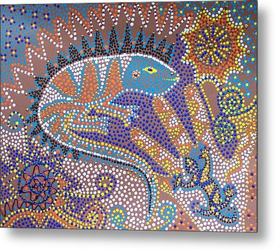 Lizard Dreaming Metal Print