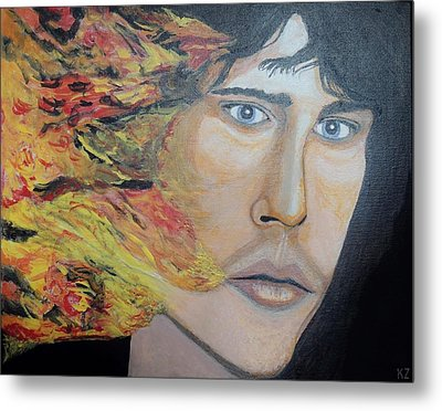 Lizard King Light My Fire. Metal Print by Ken Zabel