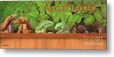 Lizard Lounge... Metal Print by Will Bullas