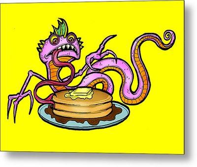 Lizard V. Pancakes Metal Print by Christopher Capozzi