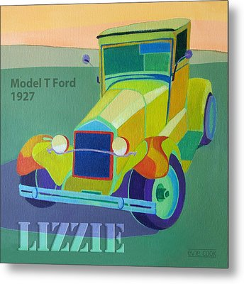 Lizzie Model T Metal Print by Evie Cook