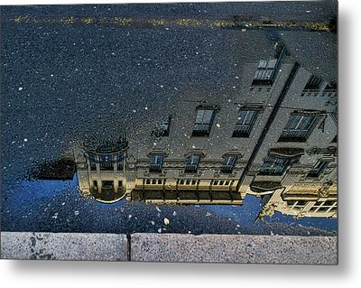 Metal Print featuring the photograph Ljubljana Building Reflection - Slovenia by Stuart Litoff