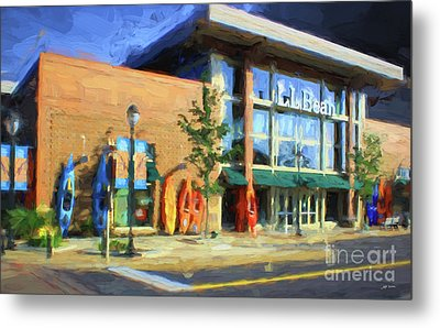 Ll Bean Store At The Promenade In Pa Metal Print by Heinz G Mielke