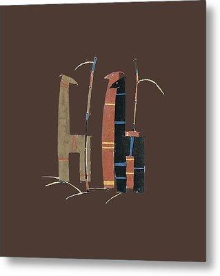 Llamas T Shirt Design Metal Print by Bellesouth Studio