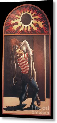 Metal Print featuring the painting Llego' Con Tres Heridas by William Hart McNichols