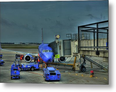 Loading Luggage Metal Print