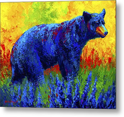 Loafing In The Lupin Metal Print by Marion Rose