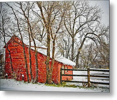 Loafing Shed Metal Print by Marilyn Hunt
