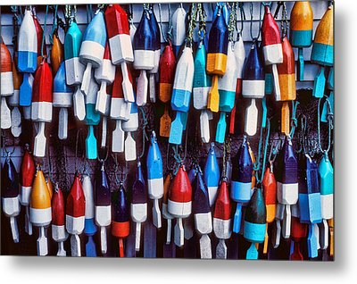 Lobester Trap Bouys Metal Print by Garry Gay
