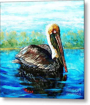 Metal Print featuring the painting L'observateur by Dianne Parks