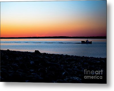 Lobster Boat In Maine Metal Print