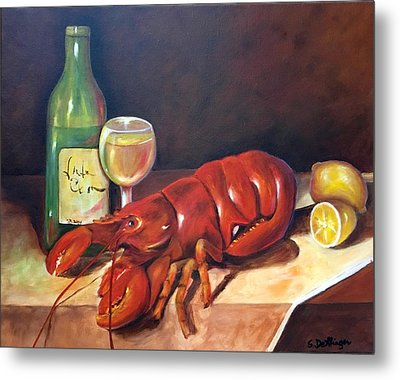 Metal Print featuring the painting Lobster Fest  by Susan Dehlinger