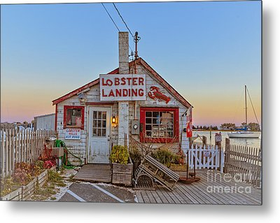 Metal Print featuring the photograph Lobster Landing Sunset by Edward Fielding