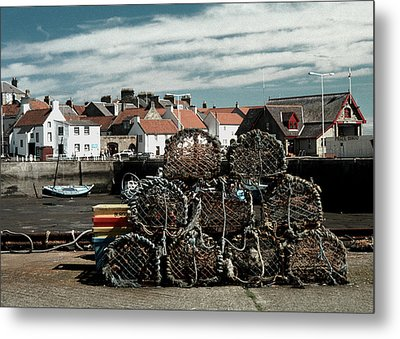 Lobster Pots Metal Print