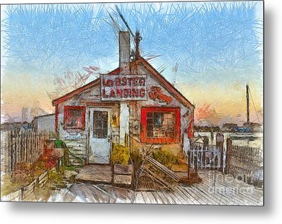 Lobster Shack Pencil Metal Print by Edward Fielding