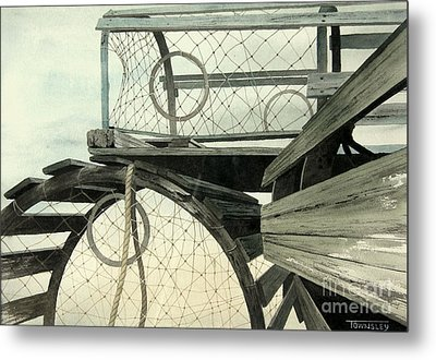 Lobster Traps Metal Print