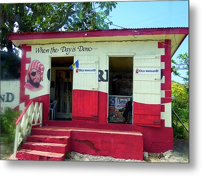 Metal Print featuring the photograph Local Rum Shop, Barbados by Kurt Van Wagner
