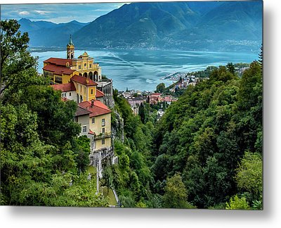 Metal Print featuring the photograph Locarno Overview by Alan Toepfer