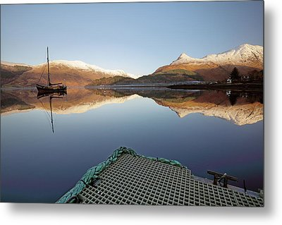Loch Leven Reflection Metal Print by Grant Glendinning