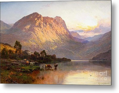 Loch Lomond And A Trout Stream Near Stirling Metal Print by Celestial Images