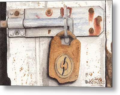 Lock And Latch Metal Print by Ken Powers