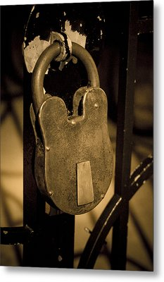 Metal Print featuring the photograph Locked Away by Christi Kraft