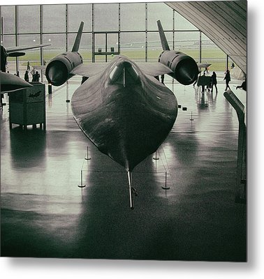 Lockheed Blackbird Metal Print by Martin Newman