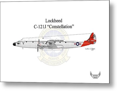 Lockheed C-121j Constellation Metal Print by Arthur Eggers