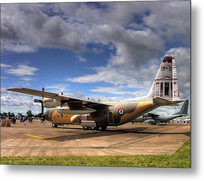 Lockheed C130h Of The Royal Jordanian Airforce. Metal Print by Mike Lester