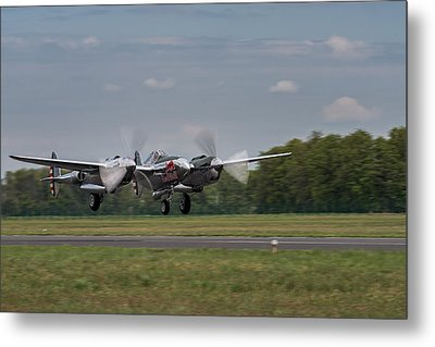Lockheed P-38 Lightning Metal Print by Robert Krajnc