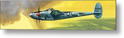 Lockheed P-38j Lightning Metal Print