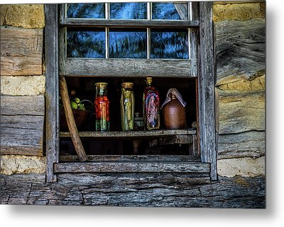 Metal Print featuring the photograph Log Cabin Window by Paul Freidlund