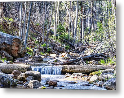 Metal Print featuring the photograph Log Falls by Anthony Citro