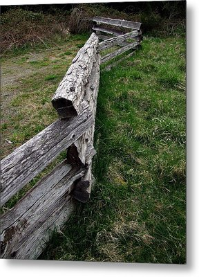 Metal Print featuring the photograph Log Fence by Ron Roberts