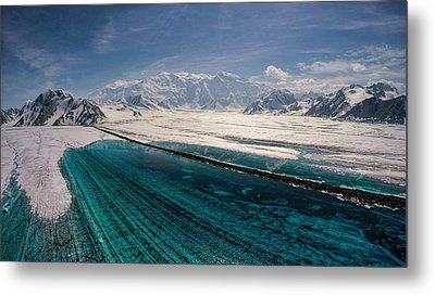 Logan Glacier Meltwater Metal Print
