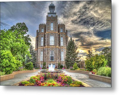 Logan L D S Temple 2 Metal Print by Donna Kennedy