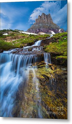 Logan Pass Stormclouds Metal Print
