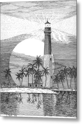 Loggerhead Key Lighthouse Metal Print by Lawrence Tripoli