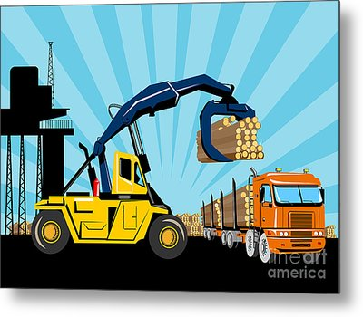 Logging Truck Metal Print by Aloysius Patrimonio