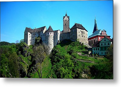 Loket Castle  Metal Print by Juergen Weiss