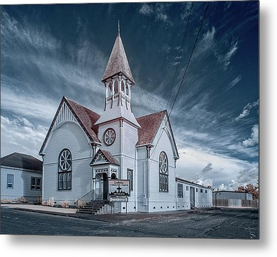 Metal Print featuring the photograph Loleta Church by Greg Nyquist