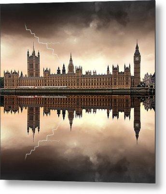 London - The Houses Of Parliament  Metal Print by Jaroslaw Grudzinski
