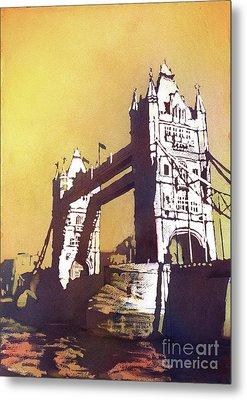 Metal Print featuring the painting London Bridge- Uk by Ryan Fox